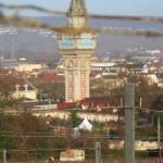 Epernay, vue de la vigne Mercier, la tour du Champagne de Castellane (Photo FC)