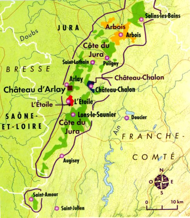 Carte appellations du Jura, L'Etoile