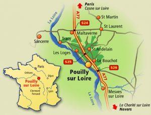 Carte de Pouilly